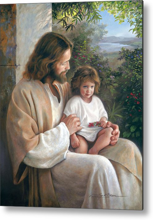 Jesus Metal Print featuring the painting Forever And Ever by Greg Olsen