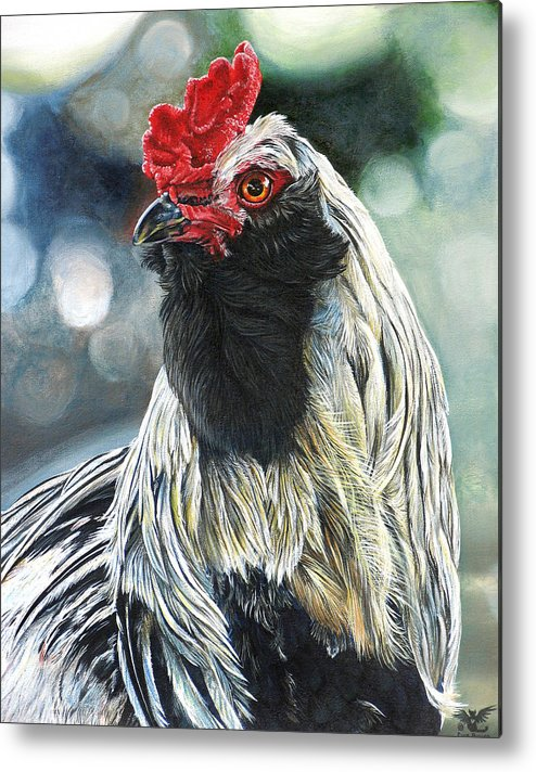 Fowl Metal Print featuring the painting Fowl Martyr by Cara Bevan
