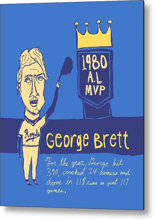 George Brett Metal Print featuring the painting George Brett Kc Royals by Jay Perkins