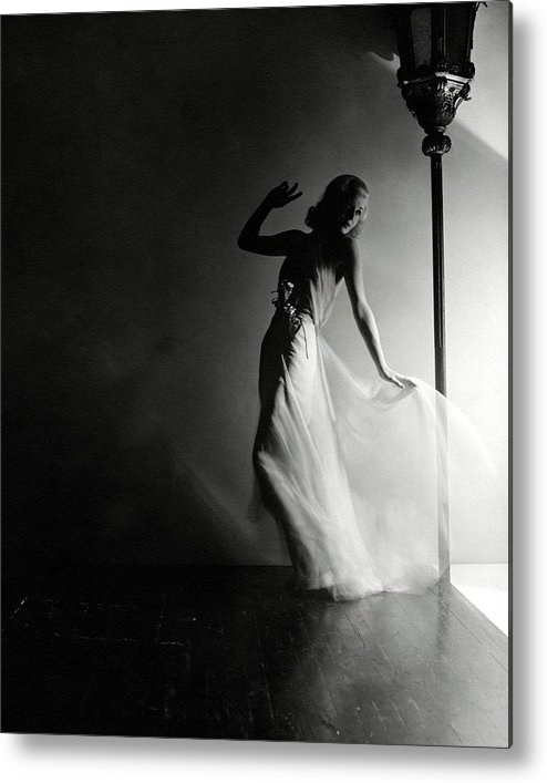 Dance Metal Print featuring the photograph Ginger Rogers Wearing An Evening Gown by Horst P. Horst