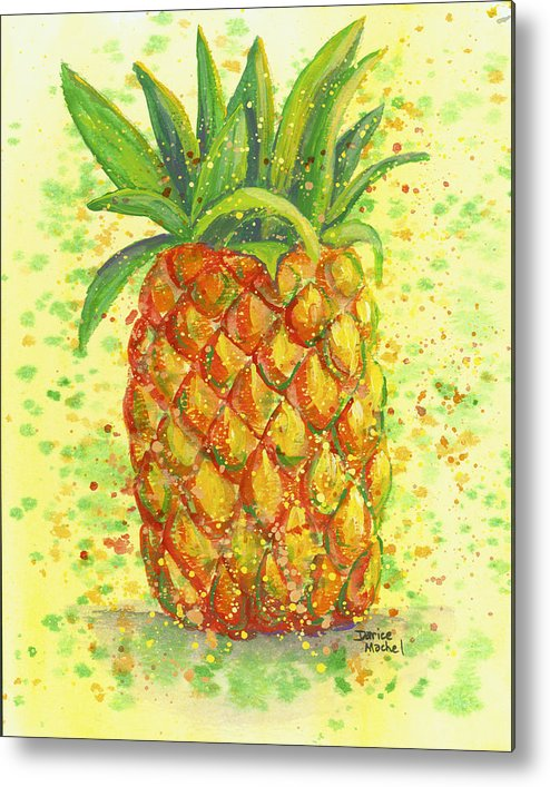 Fruit Metal Print featuring the painting Golden Hospitality by Darice Machel McGuire