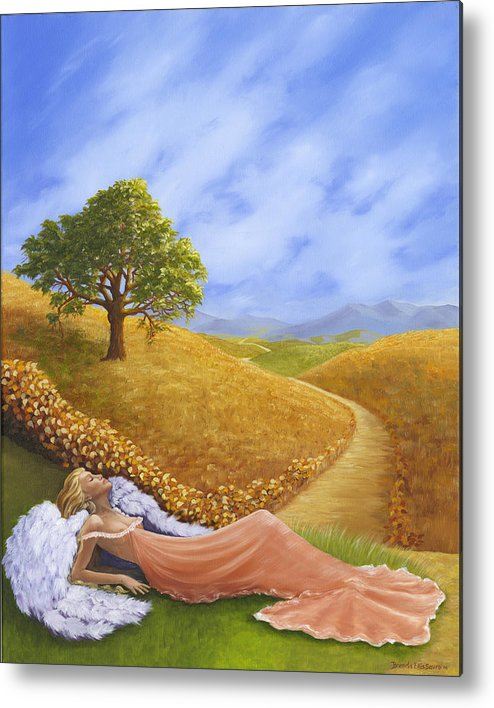 Angel Metal Print featuring the painting Heaven On Earth by Brenda Ellis Sauro