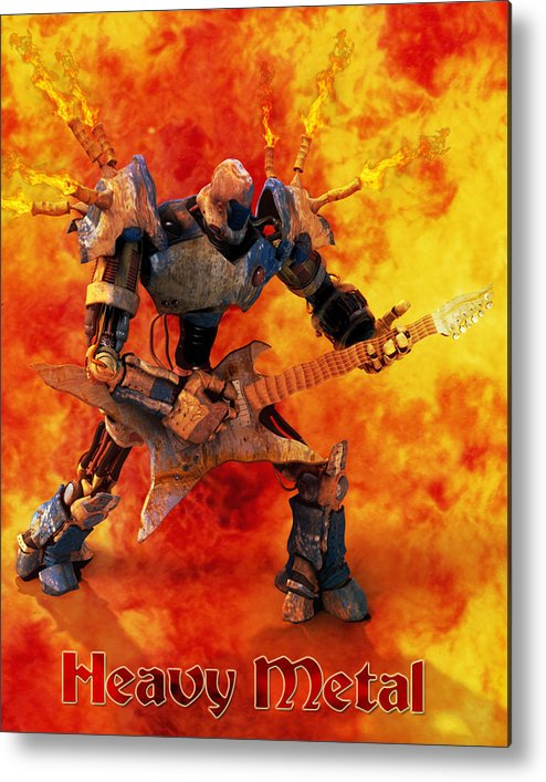 Metal Metal Print featuring the digital art Heavy Metal by Frederico Borges