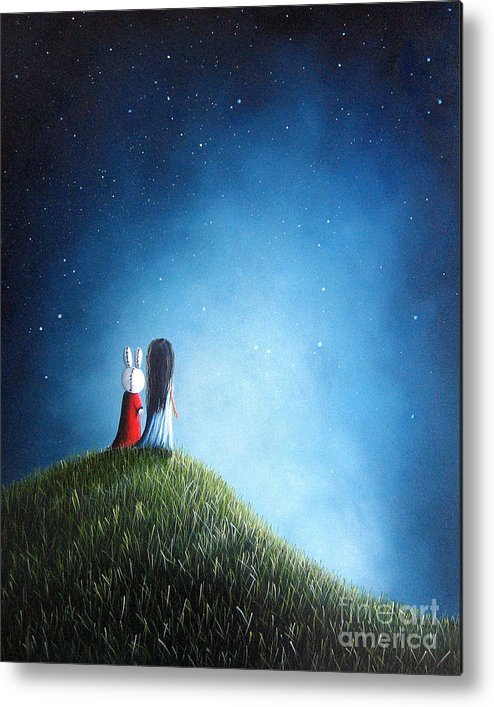 Cute Metal Print featuring the painting Her New Bff By Shawna Erback by Artisan Parlour