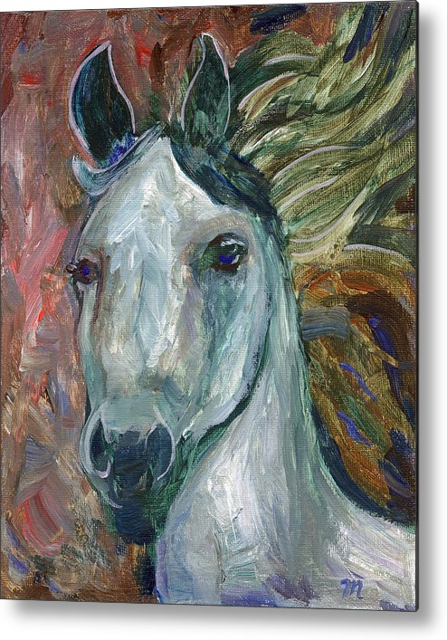 Horse Metal Print featuring the painting Horse Portrait 103 by Linda Mears