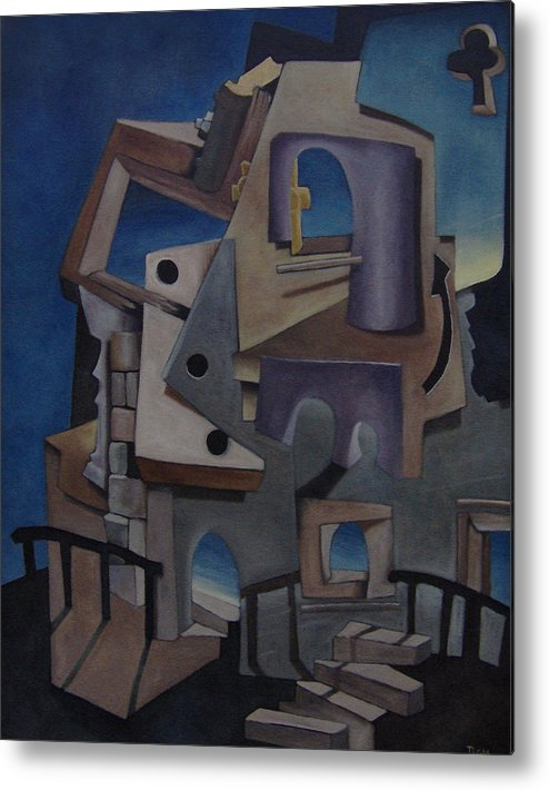 Surreal Metal Print featuring the painting Iglesia No. Seven by Michael Irrizary-Pagan