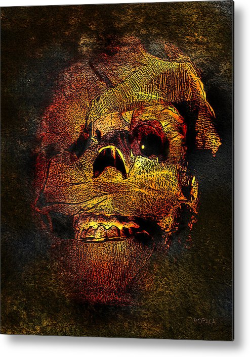 Carnival Metal Print featuring the digital art Imhotutt The Living Mummy by Michael Kopala
