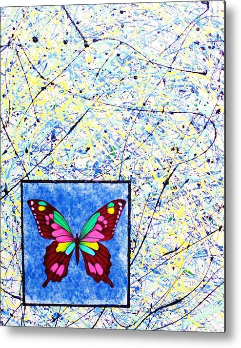 Abstract Metal Print featuring the painting Imperfect I by Micah Guenther