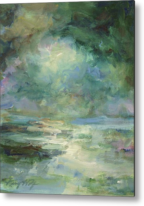 Impressionism Metal Print featuring the painting Into The Light by Mary Wolf