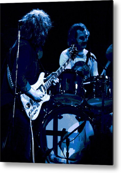 Grateful Dead Metal Print featuring the photograph Jerry And Billy At Winterland 2 by Ben Upham