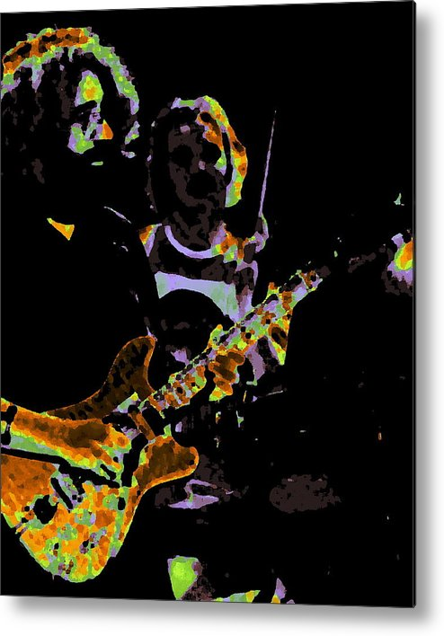 Grateful Dead Metal Print featuring the photograph Jerry Gets Psychedelic At Winterland by Ben Upham