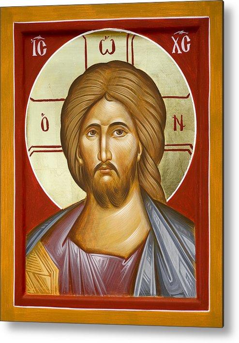 Jesus Christ Metal Print featuring the painting Jesus Christ by Julia Bridget Hayes