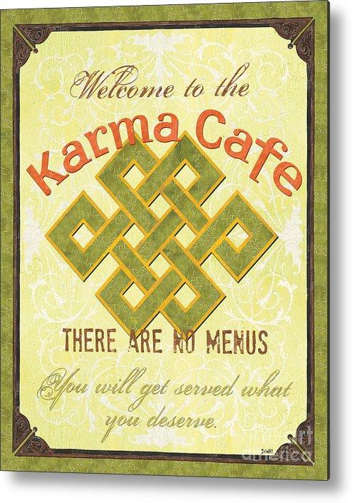 Karma Metal Print featuring the painting Karma Cafe by Debbie DeWitt