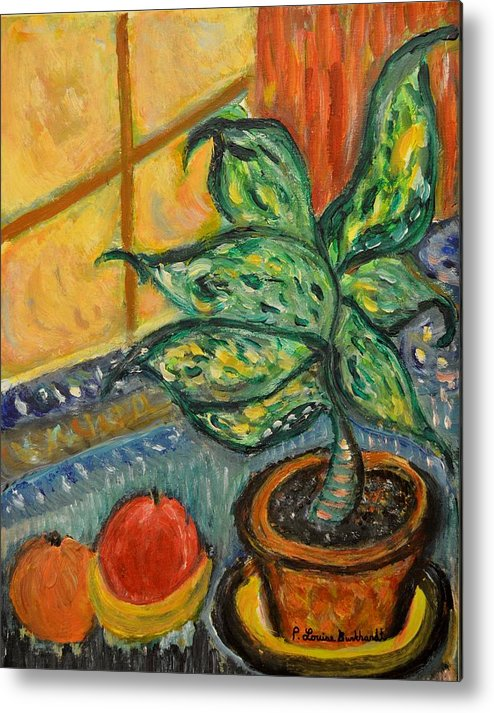 Plant Metal Print featuring the painting Kitchen Company by Louise Burkhardt