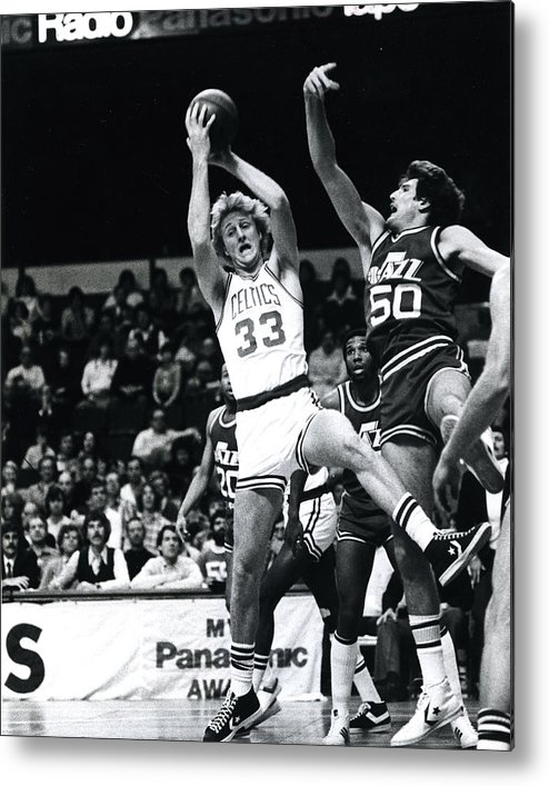 classic Metal Print featuring the photograph Larry Bird by Retro Images Archive