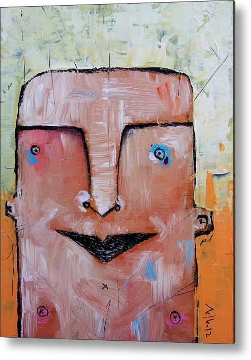Portrait Metal Print featuring the painting Life As Human No. 37 The Lost Tribe by Mark M Mellon