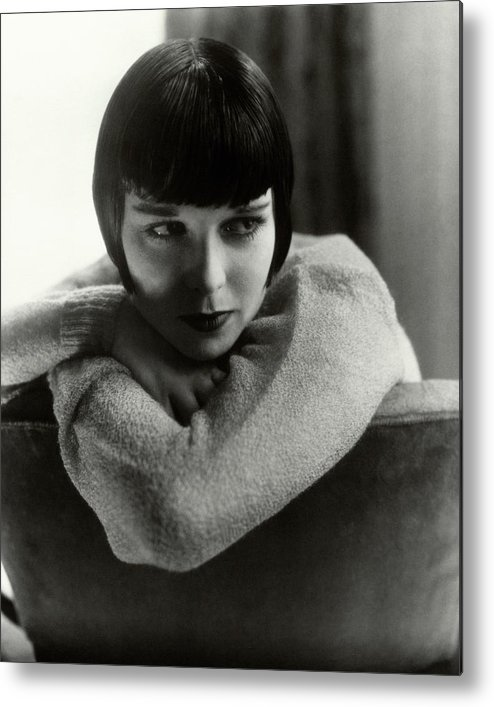 Actress Metal Print featuring the photograph Louise Brooks On A Chair by Edward Steichen