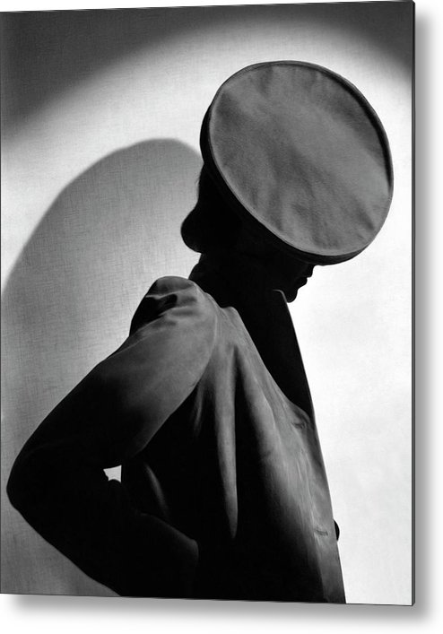 Accessories Metal Print featuring the photograph Margot Gaylor Wearing A Schiaparelli Beret by Horst P. Horst