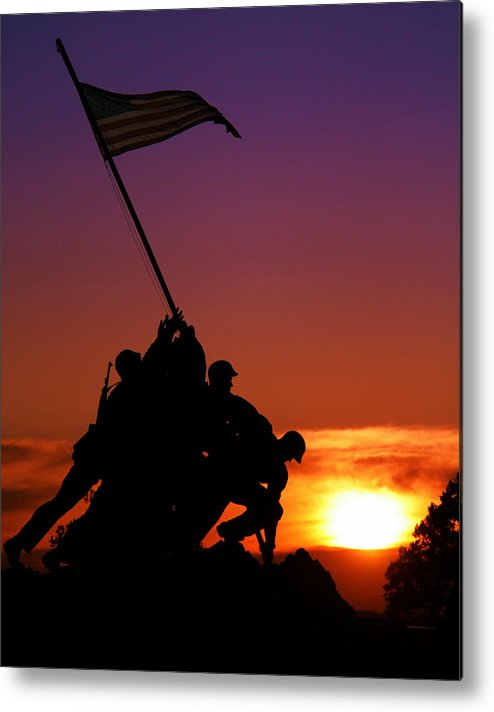 Marine Corps Memorial Metal Print featuring the photograph Marine Corps Memorial by Mitch Cat