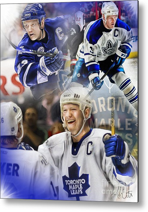 Mats Sundin Metal Print featuring the painting Mats Sundin by Mike Oulton