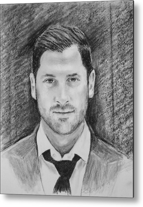 Max From Dancing With The Stars Metal Print featuring the drawing Max by John Eaglesham
