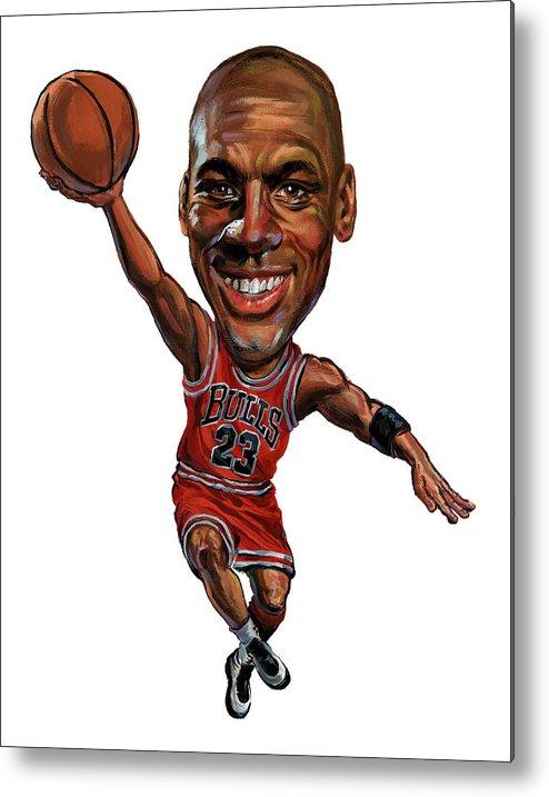 Michael Jordan Metal Print featuring the painting Michael Jordan by Art