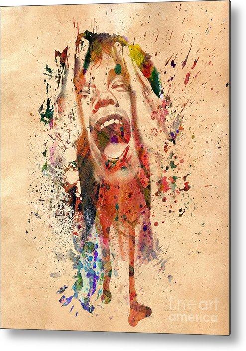Mick Jagger Metal Print featuring the photograph Mick Jagger by Mark Ashkenazi
