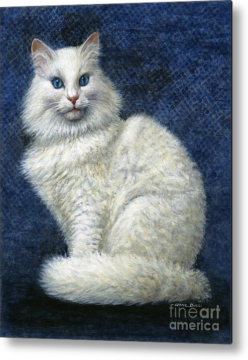 Cat Metal Print featuring the painting Mrs. Moon by Jane Bucci