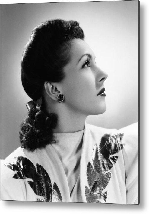 1940s Portraits Metal Print featuring the photograph Nancy Kelly, Universal Portrait By Ray by Everett