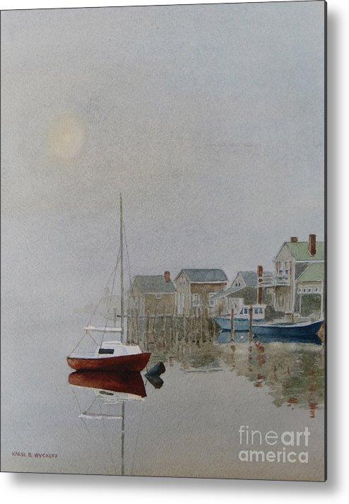 Dock Metal Print featuring the painting Nantucket Fog by Karol Wyckoff