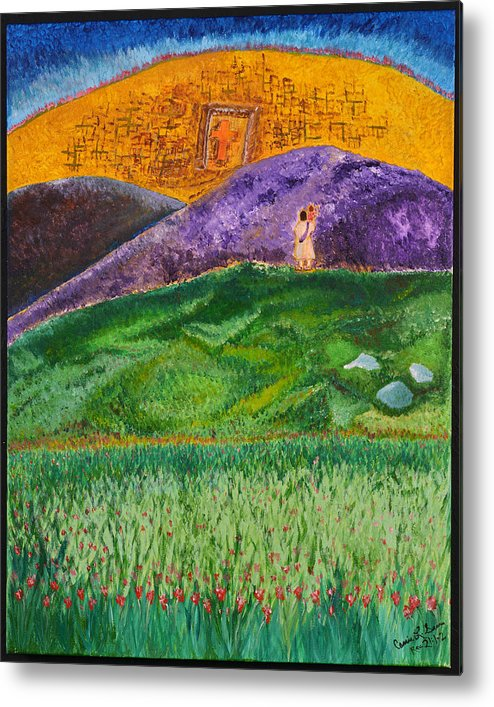 Art-by-cassie Sears Metal Print featuring the painting New Jerusalem by Cassie Sears