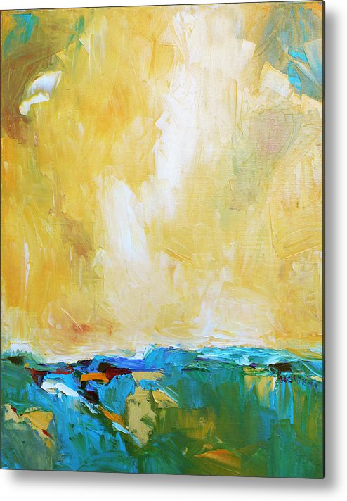 Landscape Metal Print featuring the painting Openness by Becky Kim