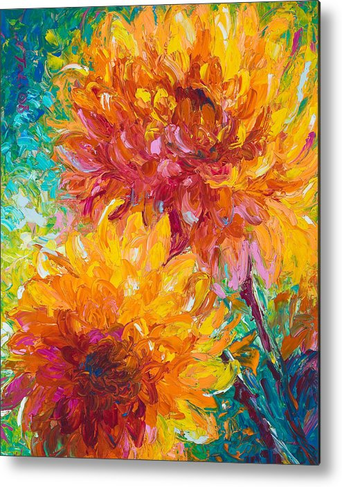 Oil Metal Print featuring the painting Passion by Talya Johnson