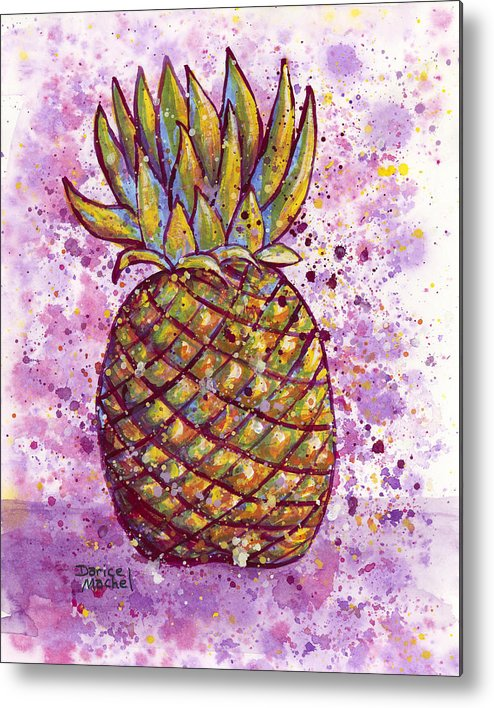 Fruit Metal Print featuring the painting Pineapple Party by Darice Machel McGuire