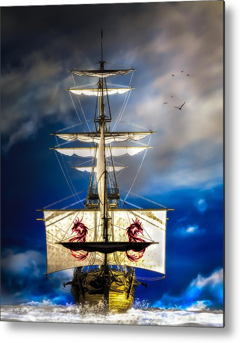 Pirates Metal Print featuring the digital art Pirates by Bob Orsillo