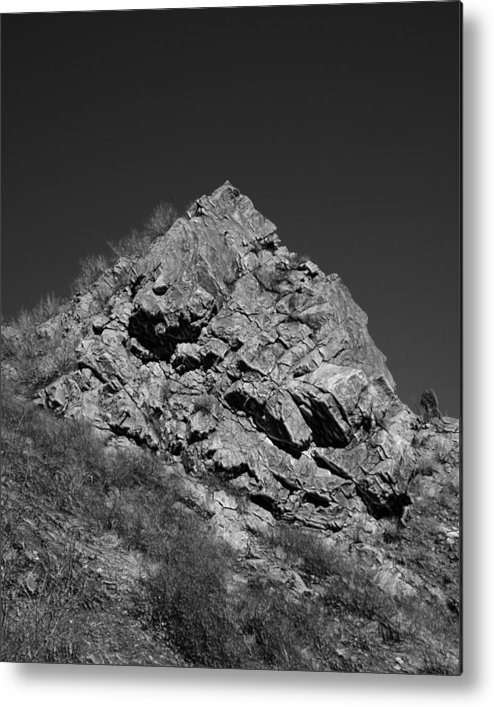 Pyramid Metal Print featuring the digital art Pyramid Of Rock by Michael Hurwitz