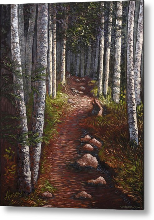 Quoddy Metal Print featuring the painting Quoddy Trail Close Crop by Alison Barrett Kent