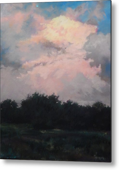 Skyscape Metal Print featuring the painting Radiance by Karen Vernon