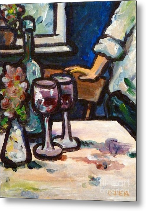 Wine Metal Print featuring the painting Red Wine by Cheryl Emerson Adams