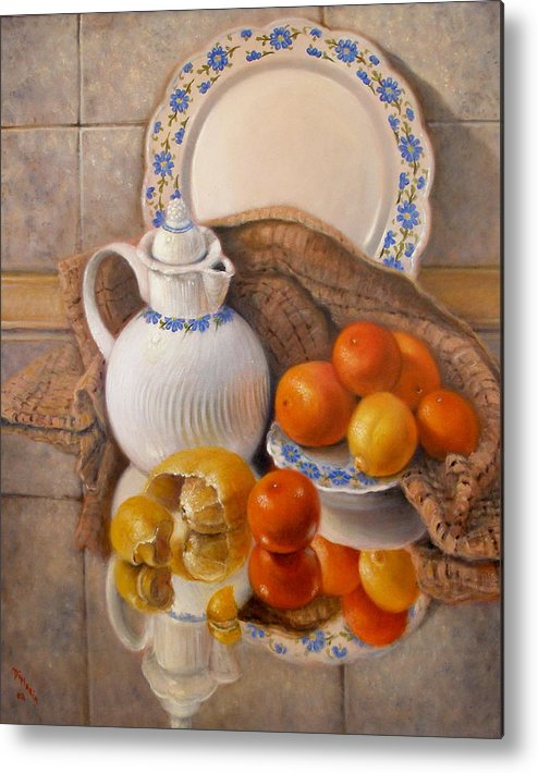 Realism Metal Print featuring the painting Reflections by Donelli DiMaria