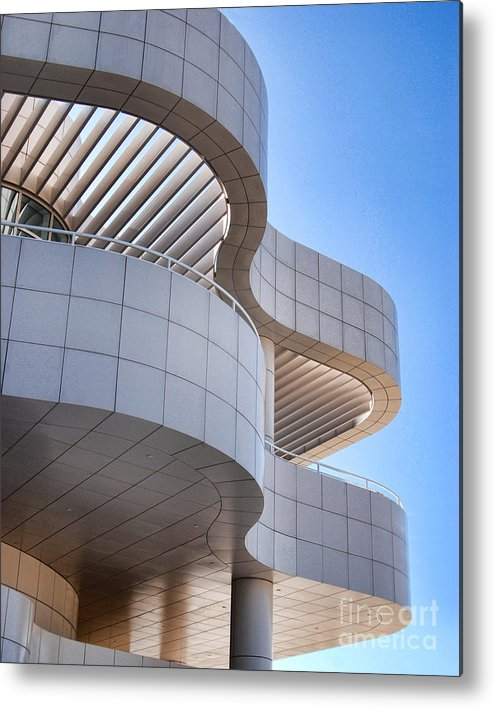 The Getty Center Metal Print featuring the photograph Richard Meier's Getty Architecture I by Norma Warden