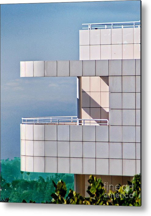 The Getty Center Metal Print featuring the photograph Richard Meier's Getty by Norma Warden