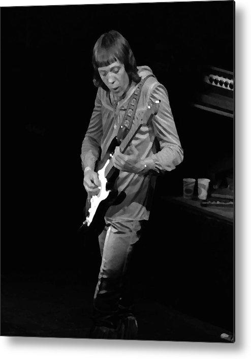 Robin Trower Metal Print featuring the photograph Rt #17 Crop 2 Enhanced by Ben Upham