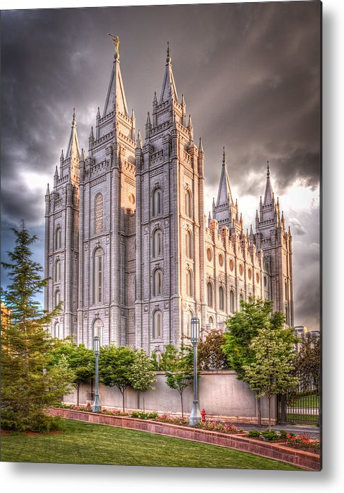 Temple Metal Print featuring the photograph Salt Lake Temple by Niels Nielsen