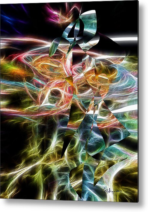 Colorful Metal Print featuring the digital art Spin by Mike Butler
