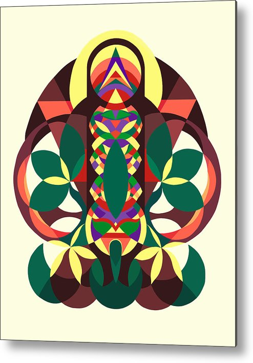 Geometric Design Metal Print featuring the painting Spiritseed by Meredith Bernhardt