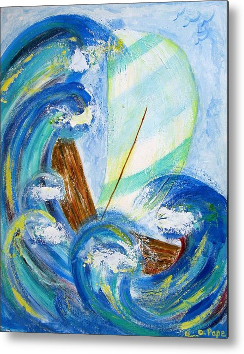 Storm Metal Print featuring the painting Stormy Sails by Diane Pape