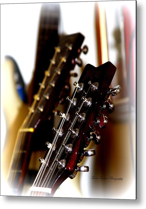 Strings Metal Print featuring the photograph Strings Galore - Guitar by Travis Truelove
