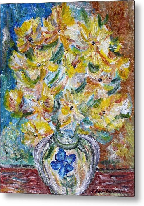Flowers Metal Print featuring the painting Summer Reflections by Louise Burkhardt