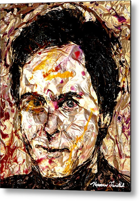 Ted Bundy Metal Print featuring the painting Ted Bundy Electric by Norman Twisted